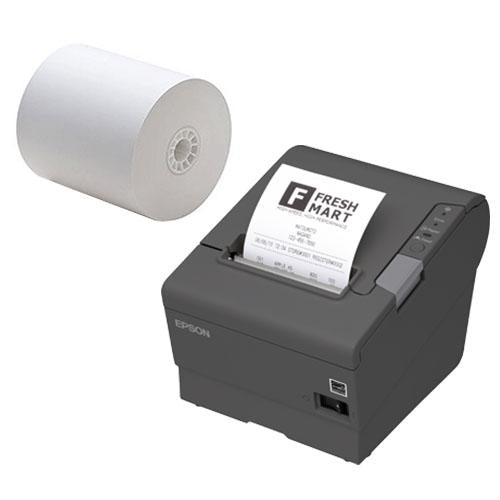 Thermal POS Receipt Paper Roll - 3 1/8