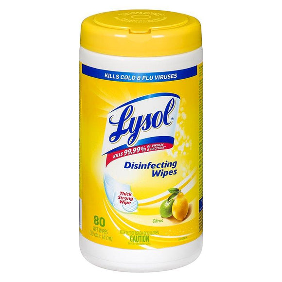 Lysol® Surface Disinfecting Wipes Citrus - 80 Sheets
