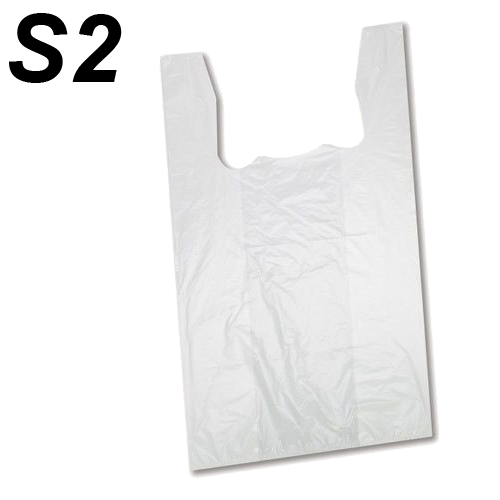 S2 White Shopping Bags 15