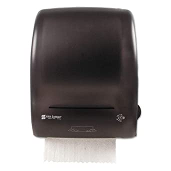 San Jamar - Hands-Free Mechanical Paper Roll Towel Dispenser - T7400TBK