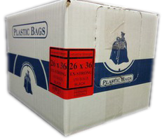 "26""x36"" Industrial Extra Strong Black Garbage/Trash Bags - 150/CS"