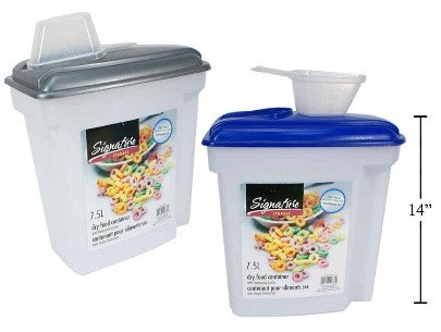 SiG.Kit 7.5L Dry Food Container w/ Measuring Scoop,11.5x7x14
