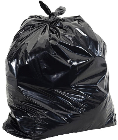 "35""x47"" Industrial Regular Black Garbage/Trash Bags - 250/CS"