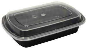 24oz Rectangular Microwavable Container With Clear Lid 150/CS