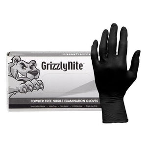 Black Nitrile Large Exam Glove 10/CS