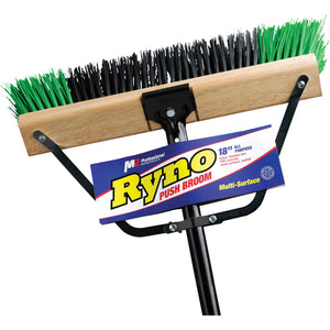 "M2 24"" Ryno Green/Black Push Broom"