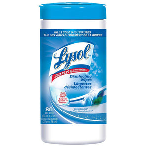 Lysol® Surface Disinfecting Wipes Spring Waterfall - 100/CAN