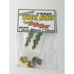 KNKBH8MM- Team KNK 12mm x 8mm Brass Wheel Hexes (2)-Team KNK-CKRC Hobbies