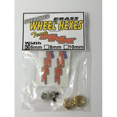 KNKBH6MM - Team KNK 12mm x 6mm Brass Wheel Hexes (2)-Team KNK-CKRC Hobbies