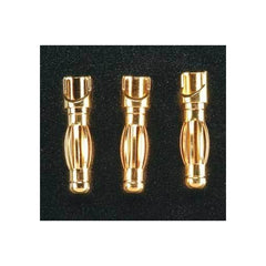 GPMM3114 - Great Planes Gold Plated Bullet Connector Male 4mm (3)-Great Planes-CKRC Hobbies