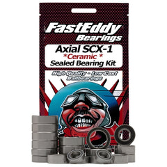 FEBSCX10 - Fast Eddy Bearings Axial SCX-10 Ceramic Sealed Bearing Kit-Fast Eddy-CKRC Hobbies