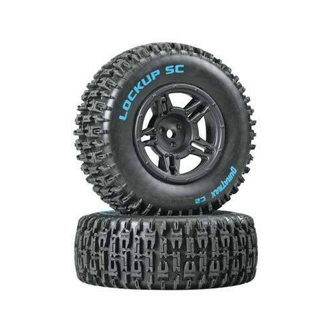 DTXC3671 - Duratrax Lock Up Rear Tire Rim Combo Slash