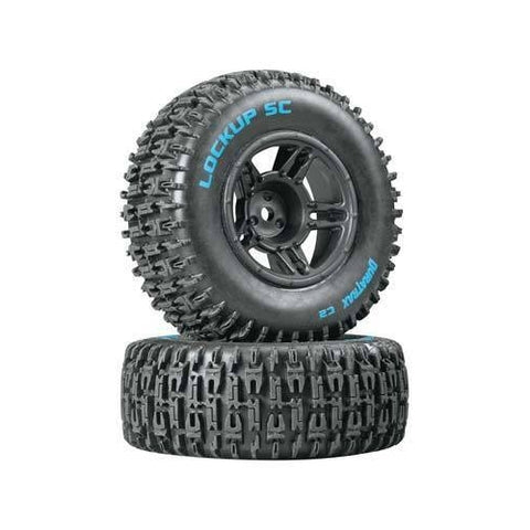 DTXC3670 - Duratrax Lock Up Front Rim Tire Combo Slash