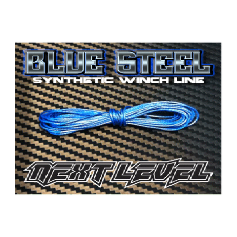 NLWLBl - Next Level Synthetic Winch Line Blue Steel