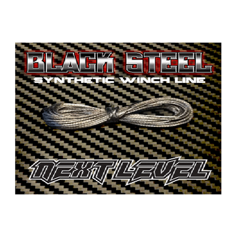NLWLB - Next Level Synthetic Winch Line Black Steel