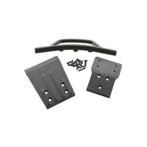 RPM80022 - RPM Products Front Bumper & Skid Plate Black Slash 4x4