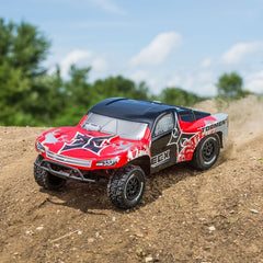 ECX03133T1 - ECX 1/10 Torment 2WD SCT, Brushed, LiPo, RTR, Red/Silver-ECX-CKRC Hobbies