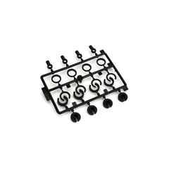 ECX1038 - ECX Shock End, Spring Cup, Spring Clip Set: 1:10 2wd-ECX-CKRC Hobbies