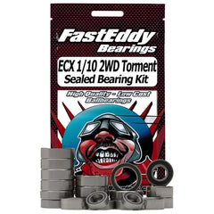 FEBECXT2 - Fast Eddy Bearings ECX 1/10 2WD Torment Sealed Bearing Kit-Fast Eddy-CKRC Hobbies