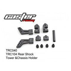 TRC040 - Caster Rear Shock Tower & Chassis Holder-Caster Racing-CKRC Hobbies