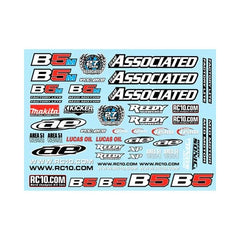 ASC91614 - Team Associated Series Decal Sheet B5/B5M/B5M-FL-Team Associated-CKRC Hobbies