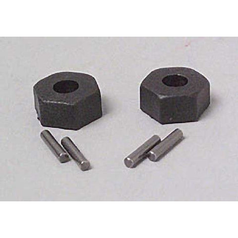 TRA1654 - Wheel Hubs, Hex (2) with Axle Pins (2) Traxxas