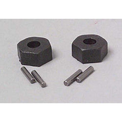 TRA1654 - Wheel Hubs, Hex (2) with Axle Pins (2) Traxxas-Traxxas-CKRC Hobbies