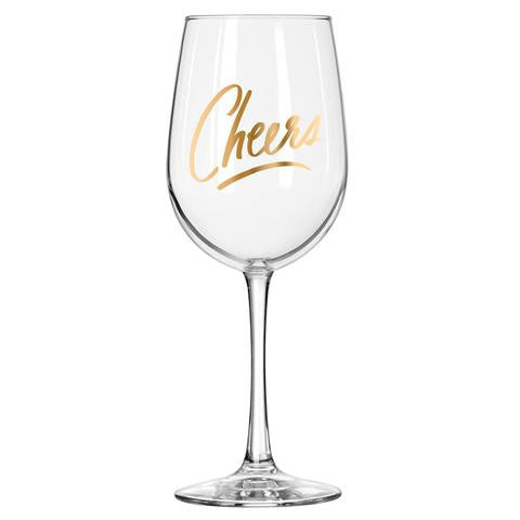 Easy Tiger Cheers Wine Glass