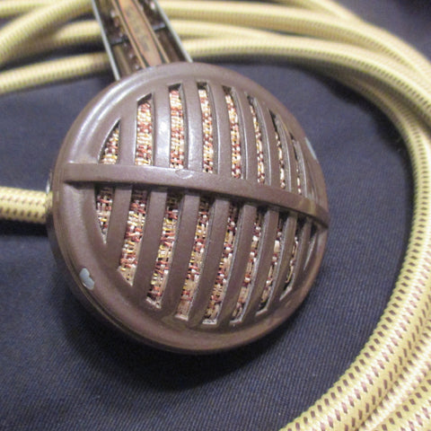 Astatic Brown Biscuit Vintage Bullet Mic