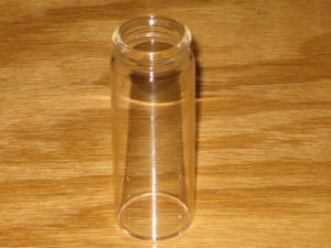 "Blooze Bottle Slide Long 3 3/16"" Clear Glass"