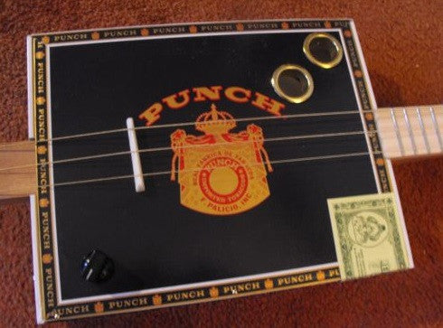 Weeklyhouse Punch Cigar Box Guitar Old School Music Company