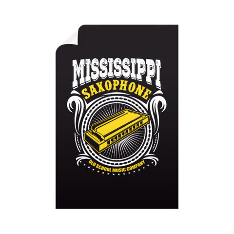 Mississippi Saxophone Vertical Wall Decals  Old School Music Company