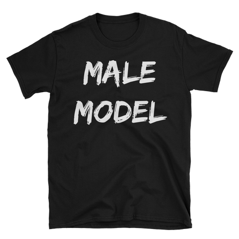 Male Model Text T-Shirt