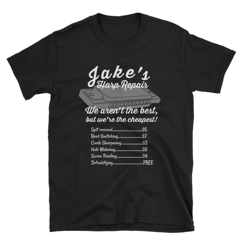 Jake's Harp Repair T-Shirt