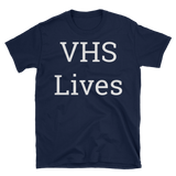 VHS Lives Text T-Shirt