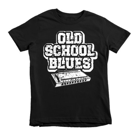 Old School Blues Harp Short Sleeve Children's T-Shirt