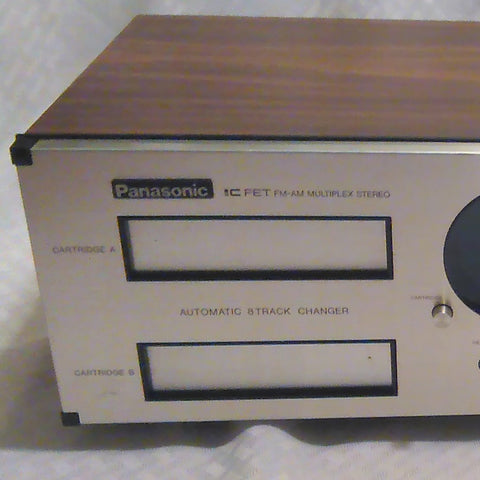 Panasonic Dual 8 Track AM FM Radio Receiver Model RE-8250
