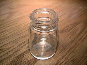 "Blooze Bottle Slide Short 2"" Clear Glass w/ threads"