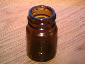"Blooze Bottle Slide Short 2"" Amber Glass w/ threads"