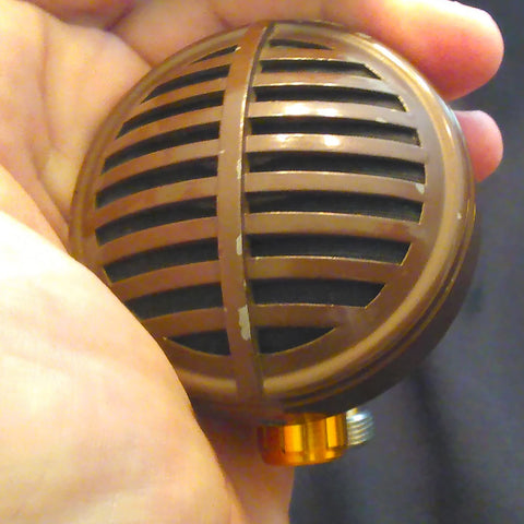 Astatic Brown Biscuit Vintage Mic With Japanese Crystal Element