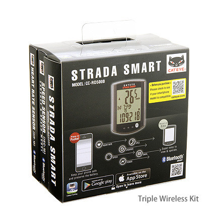 Cateye Strada Smart computer, speed+cadence+heartrate - CC-RD500B