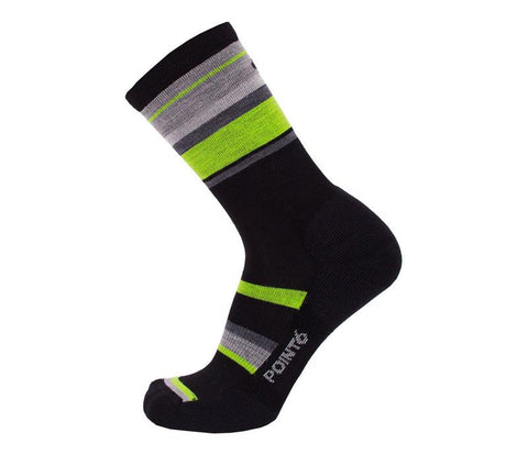 "Point6 - Bas / Socks, Active Life ""Band"", Light Crew, Black/Lime"