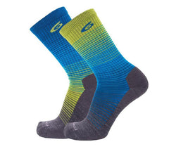 Point6 - Bas / Socks, Active Life, Rise, Extra Light - Bleu/Vert