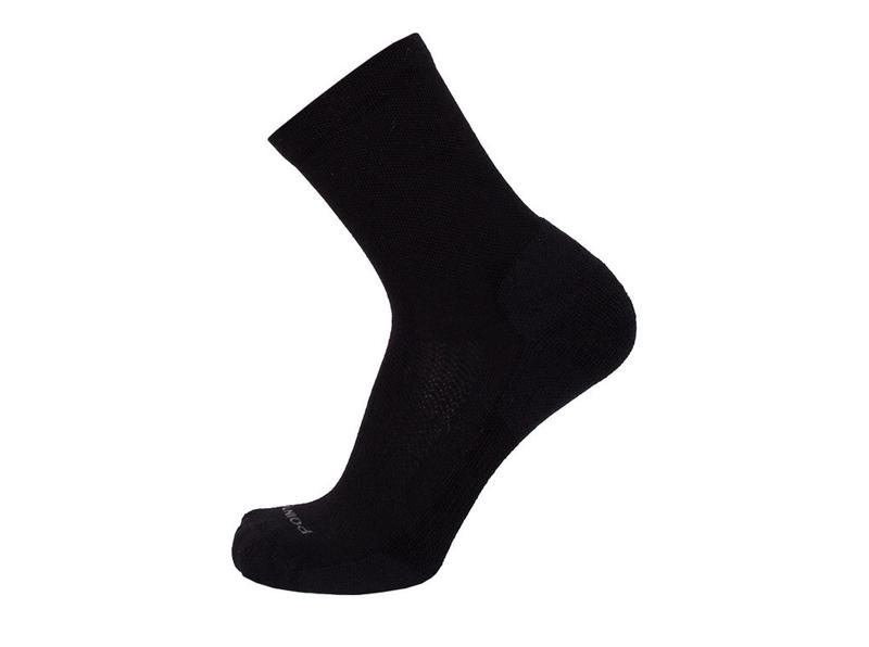 "Point6 - Bas / Socks, ""Sport Active"", Extra Light, 3/4 Crew, Noir"