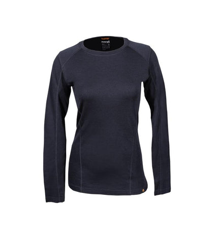 Point6 - Women's Base Layer, Long Sleeve, Mid Crew Neck Top