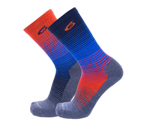 Point6 - Bas / Socks, Active Life, Rise, Extra Light - Bleu/Orange