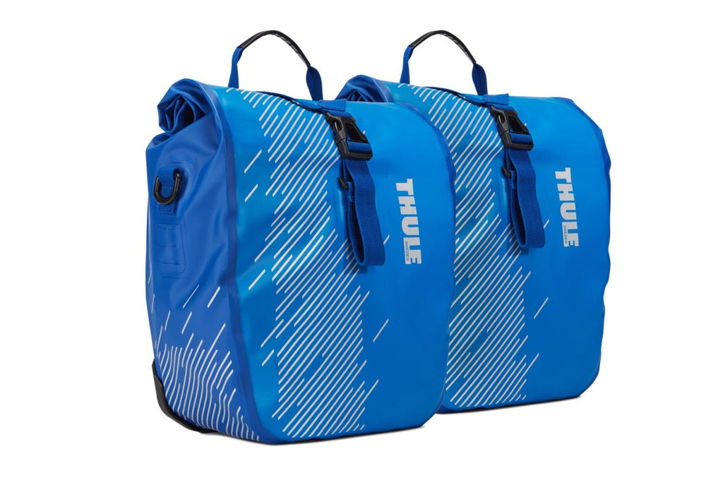 THULE sacs panniers Shield pannier bag set, Petit/Small, bleu