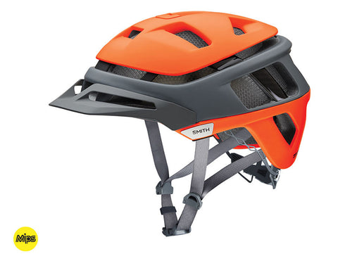 Smith Forefront helmet with MIPS - Matte Neon Orange Split
