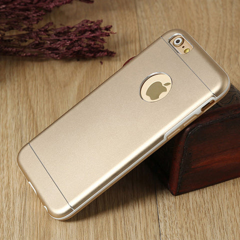 Gold Aluminum IPhone case,Drop Protection, Aluminum PC Tpu,IPhone 6 case,iPhone 6 Plus Case,