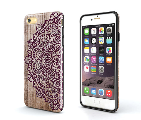 mandala wood Tough iPhone 6S Case,iPhone 6s Plus Case,Tough iPhone 5s Case,iPhone SE Case